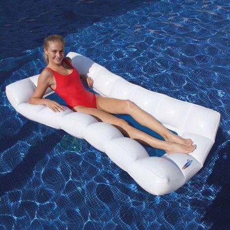 Hamac rectangulaire design KERLIS 170x90 - Blanc - Extérieur - Blanc