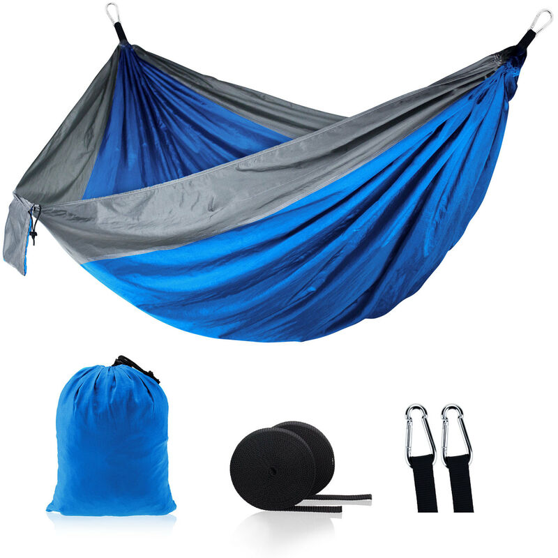 Thsinde - Hamac Simple Double Camping Portable léger Parachute hamac pour extérieur Randonnée pédestre Voyage - Nylon Hammock Swing