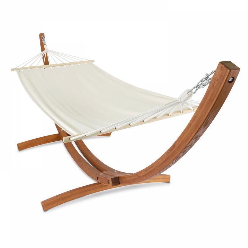 hamac sur pied en bois blanc 103739. Black Bedroom Furniture Sets. Home Design Ideas