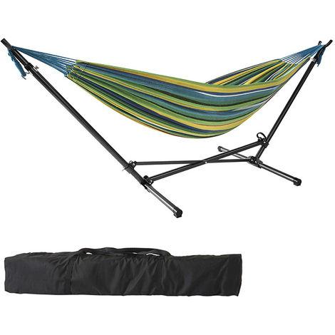 Hamac suspendu avec support lit suspendu ext rieur lit balan oire bain de soleil balancelle de - Hamac de jardin avec support ...