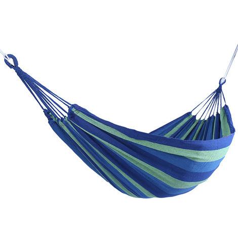 Hamac Suspendu En Toile De Jardin, Bleu