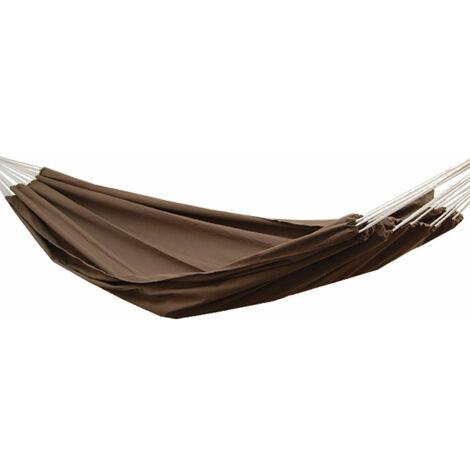 Hamac XXL pour deux personnes 400x160cm | Jusqu'à 150 kg | 100% coton | Hamacs Amanka plus de monde ensemble | couleur marron