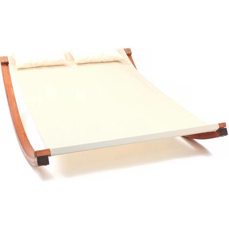 Hamaca de madera texlino Relax - 2 plazas - Crudo