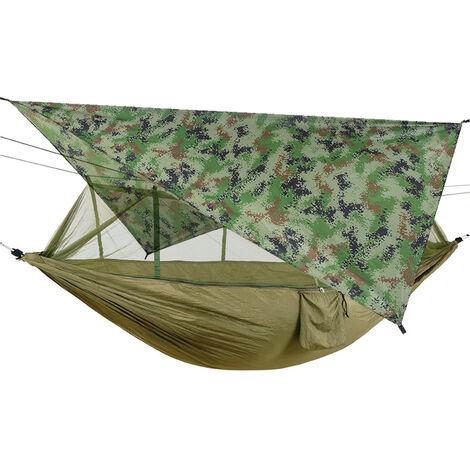 Hamaca de red repelente de mosquitos con toldo de sombrilla impermeable para acampar al aire libre, viajes, senderismo, suministros para la playa, 3 #