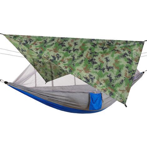 Hamaca de red repelente de mosquitos con toldo de sombrilla impermeable para acampar al aire libre, viajes, senderismo, suministros para la playa, 6 #