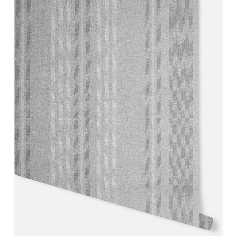 Hamilton Stripe Grey Wallpaper - Arthouse - 297102