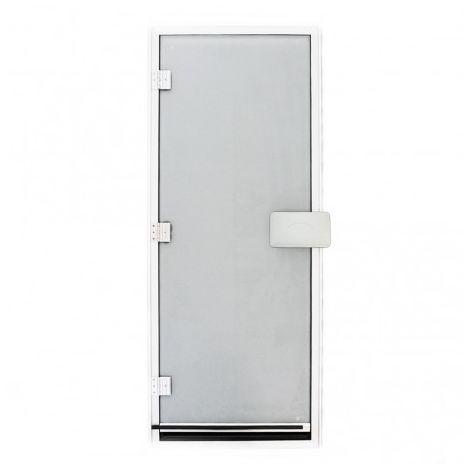 Hammam Tür 185.5 x 78 cm mit transparentes und vorgespanntes 8 mm Glas mit Schwelle 1