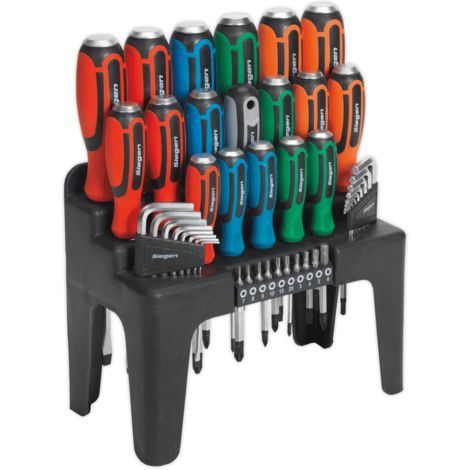Hammer-Thru Screwdriver, Hex Key & Bit Set 44pc