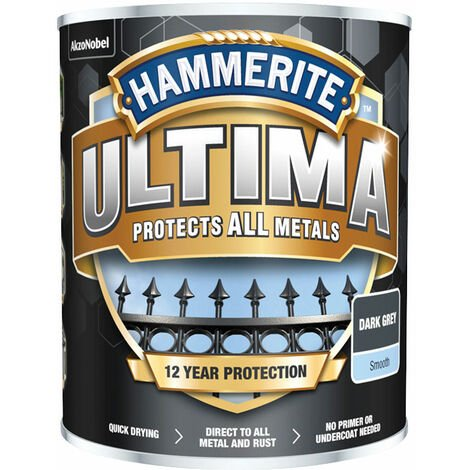Hammerite 5362527 Ultima Metal Paint Smooth Dark Grey 750ml
