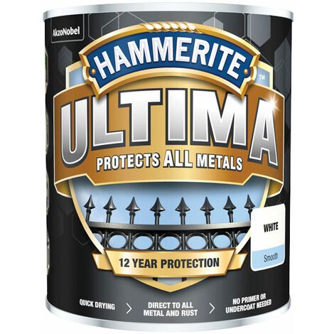 Hammerite 5362531 Ultima Metal Paint Smooth White 750ml