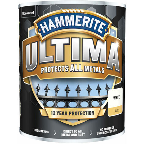 Hammerite 5362538 Ultima Metal Paint Matt White 750ml
