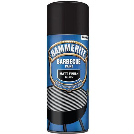 Hammerite Barbecue Paint - Aerosol Spray Paint - 400ml - Matt Black