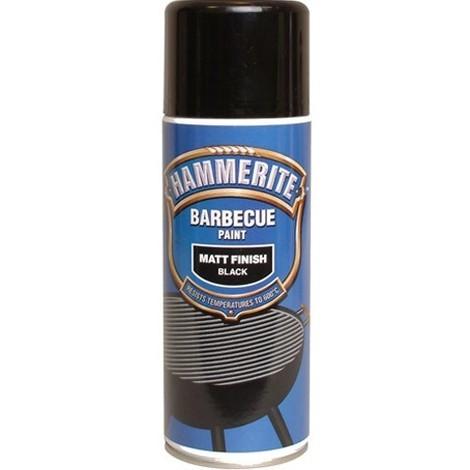 Hammerite Bbq Paint Matt Black 400ml Aerosol pk of 6