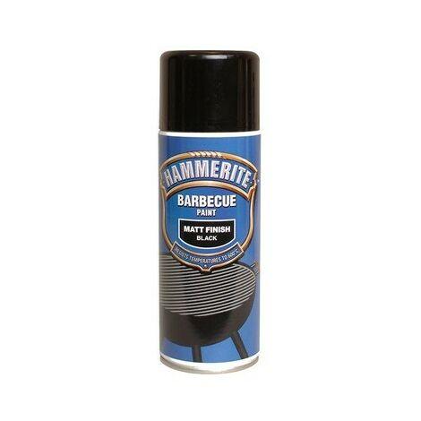 Hammerite BBQBLAERO BBQ Paint Aerosol Black Matt 400ml