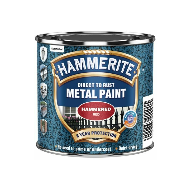 Image of Direct to Rust Hammered Finish Paint Red 250ml ( HFR250) - HMM