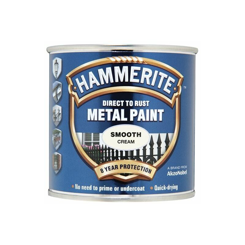 Image of Direct to Rust Smooth Finish Metal Paint Cream 250ml ( SFCR250) - HMM