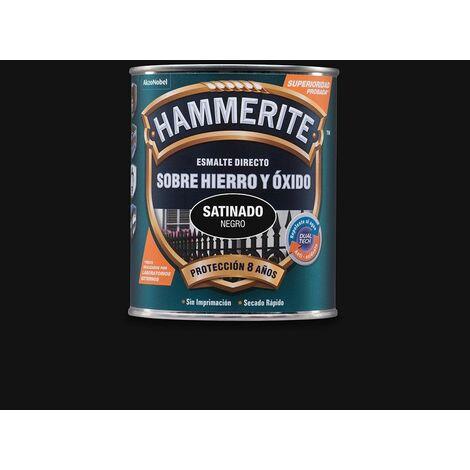 HAMMERITE ÉMAIL MÉTALLISÉ SATIN NOIR 0.750L