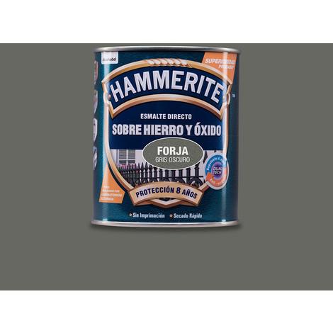 Hammerite Esmalte Metalico Forja Gris Oscuro 0.750L - NEOFERR