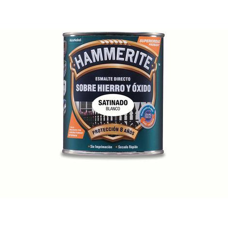 Hammerite esmalte Metálico satinado Blanco 0.750l