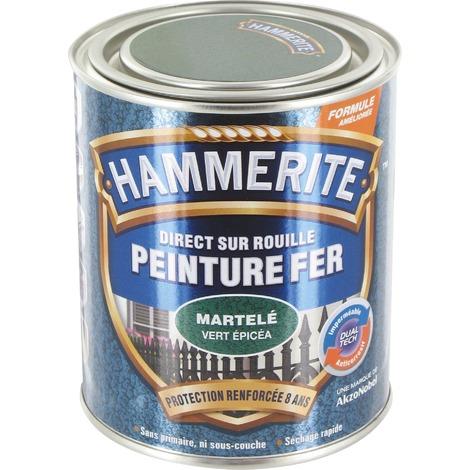 HAMMERITE FER MARTELE 0.25L GRIS ARGEN (Vendu par 1)