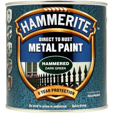 Hammerite Hammered Direct to Rust 2.5L Dark Green