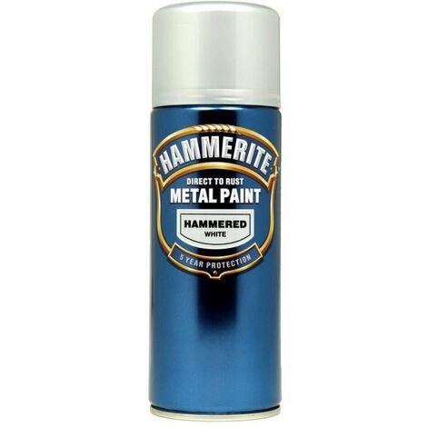 Hammerite Hammered Direct to Rust 400ml Silver Aerosol