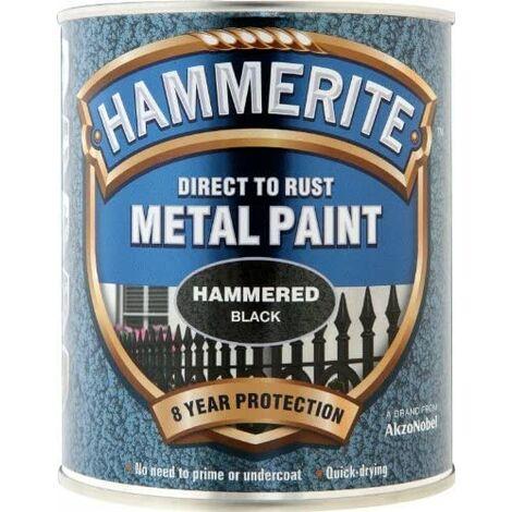 Hammerite Hammered Direct to Rust 750ml Black