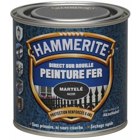 """main image of """"Peinture fer Direct sur Rouille - 250ml - martelé (différentes teintes) HAMMERITE - Teinte: Gris ardoise"""""""