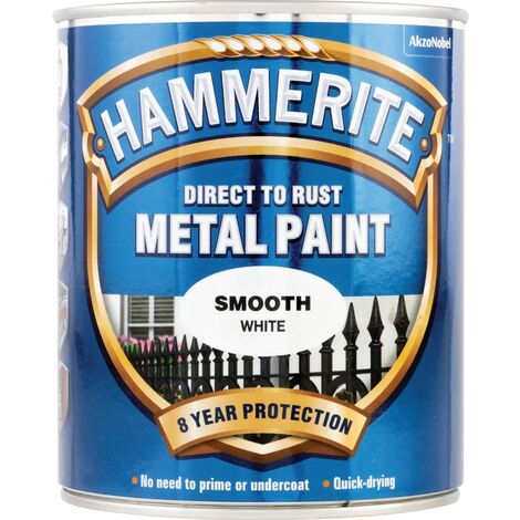 Hammerite Metal Paint Smooth White