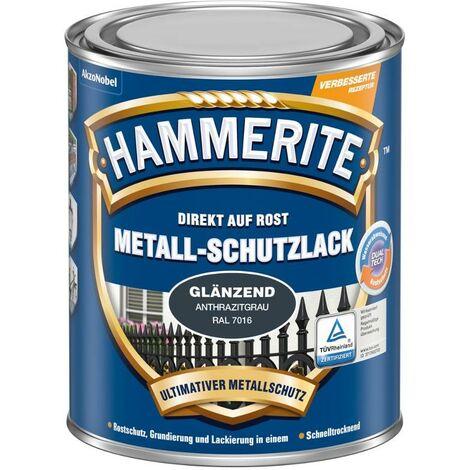 HAMMERITE Metall-Schutzlack Glaenzend Anthrazitgrau 250ML - 5272541