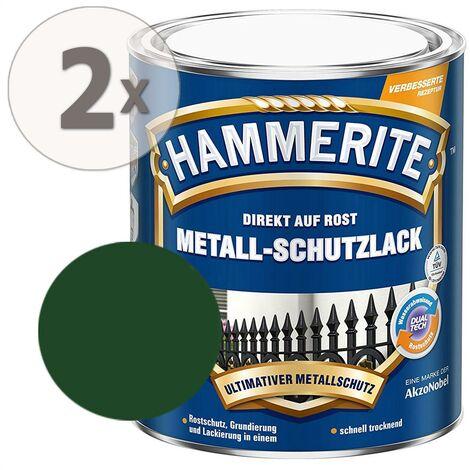 Hammerite Metall-Schutzlack glänzend dunkelgrün Sparpaket 2 x 750ml
