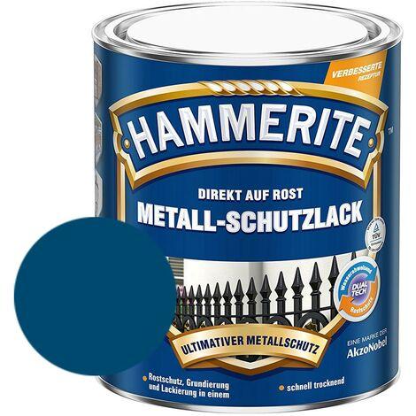 Hammerite Metall-Schutzlack glänzend Grundierung Rostschutz blau 750ml