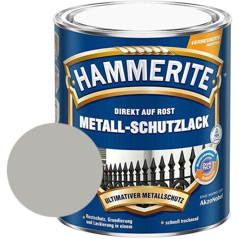 Hammerite Metall-Schutzlack glänzend Grundierung Rostschutz silber 750ml