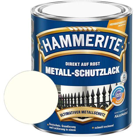 Hammerite Metall-Schutzlack glänzend Grundierung Rostschutz weiß 750ml