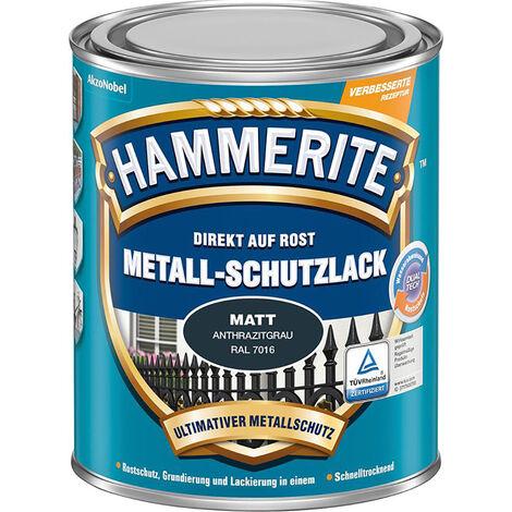 HAMMERITE Metall Schutzlack HA 750 ml schwarz - 3 Stück
