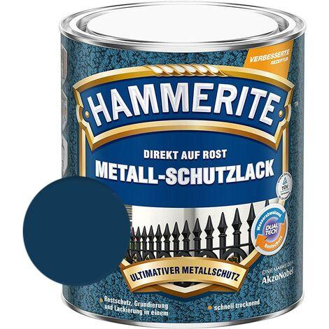 Hammerite Metall Schutzlack Hammerschlag-Effekt Rostschutz dunkelblau 750ml