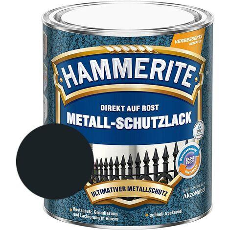 Hammerite Metall Schutzlack Hammerschlag-Effekt Rostschutz schwarz 750 ml