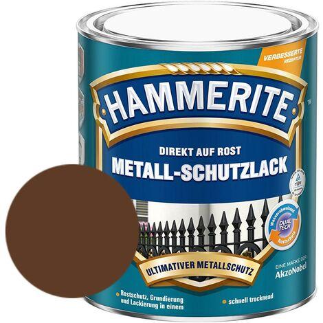 Hammerite Metall-Schutzlack matt Grundierung Rostschutz braun 750 ml