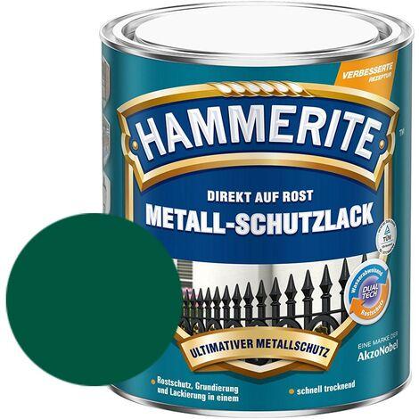 Hammerite Metall-Schutzlack matt Grundierung Rostschutz dunkelgrün 750 ml