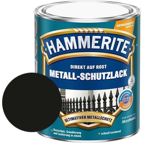 Hammerite Metall-Schutzlack matt Grundierung Rostschutz schwarz 750 ml