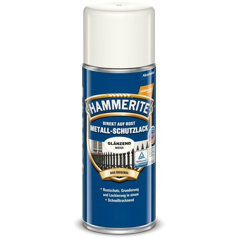 Hammerite Metall Schutzlack schwarz glänzend 400ml