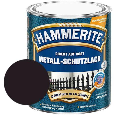 Hammerite Metall-Schutzlack Struktur-Effekt schwarz 750 ml