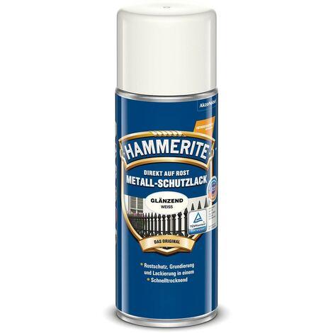 Hammerite Metall Schutzlack weiß glänzend 400ml