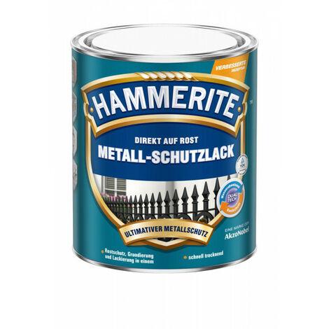 Hammerite Metall-Schutzlack weiss matt 0,750 L