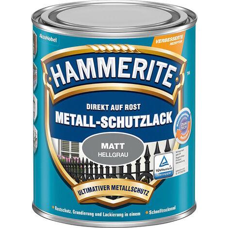 HAMMERITE Metallschutz Lack 750 ml matt hellgrau