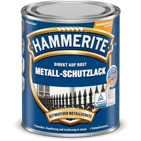 HAMMERITE Metallschutz-Lack Glänzend Schwarz 250ml - 5087589