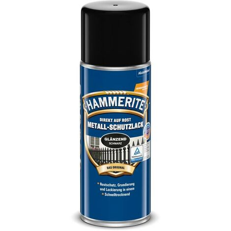 HAMMERITE Metallschutz-Lack Glänzend Schwarz 400ml - 5087590