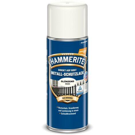 HAMMERITE Metallschutz-Lack Glänzend Weiss 400ml - 5087596