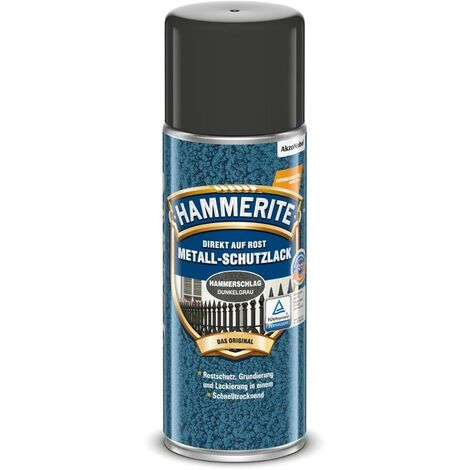 HAMMERITE Metallschutz-Lack Hammerschlag Dunkelgrau 400ml - 5212532