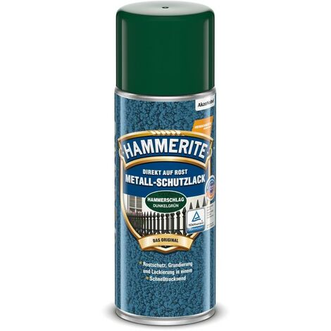 HAMMERITE Metallschutz-Lack Hammerschlag Dunkelgrün 400ml - 5087603